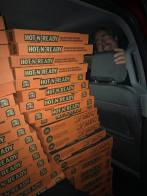 140 pizzas were ordered to feed the nearly 500 teens at the Midnight Dodgeball Tourament