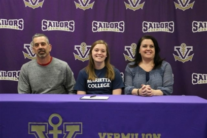 Maddie Nader signs letter of intent for Marietta College