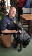 Sergeant Scott Holmes and Miro